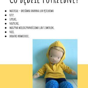 bluza z kapturem dla lalki 35 cm