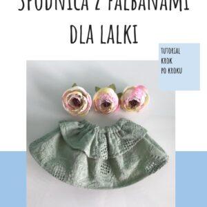 Wykrój spódnica z falbanami dla lalki