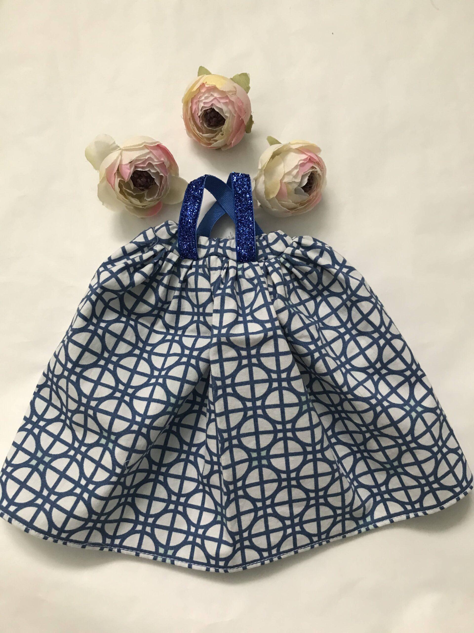 sukienka maxi dla lalki