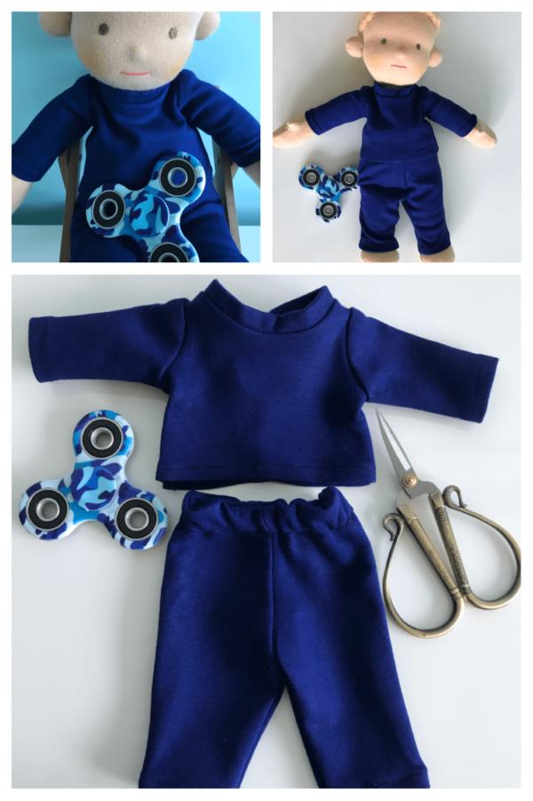 dres dla lalki wykrój