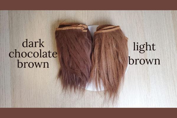 naturalne włosy dla lalki