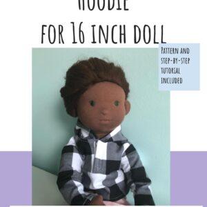 bluza z kapturem dla lalki