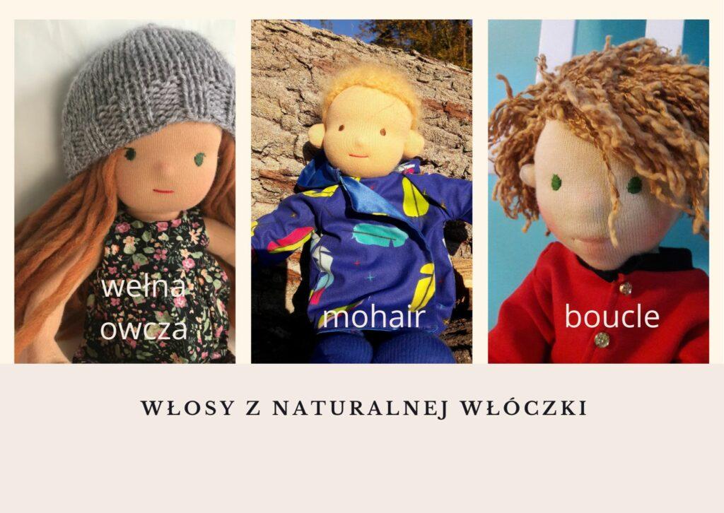włosy z włóczki dla lalki